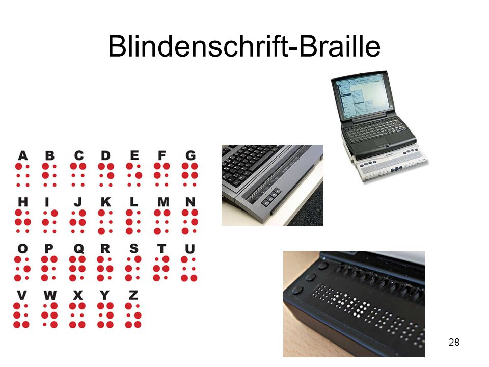 28 Blindenschrift-Braille