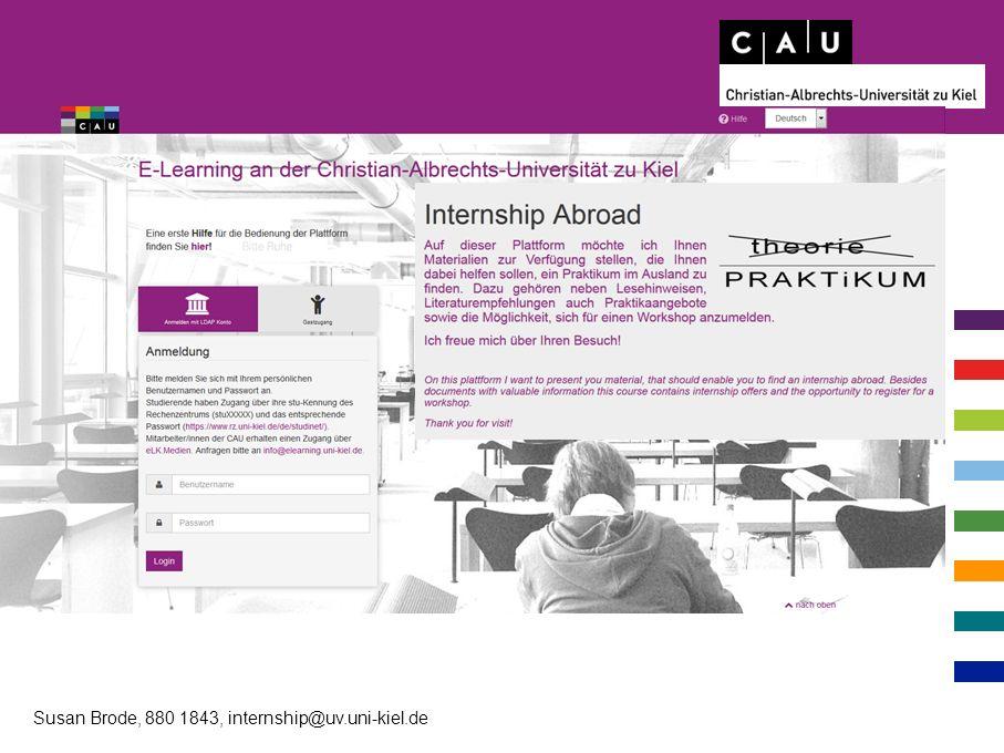 Susan Brode, 880 1843, internship@uv.uni-kiel.de