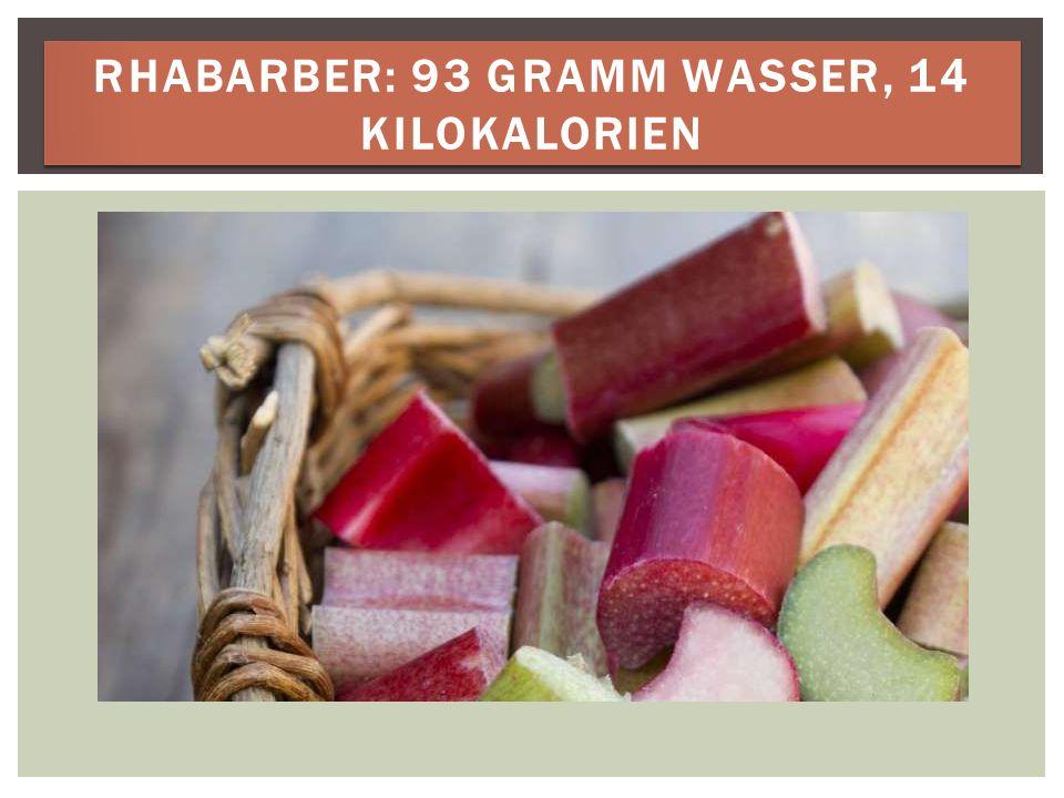 RHABARBER: 93 GRAMM WASSER, 14 KILOKALORIEN