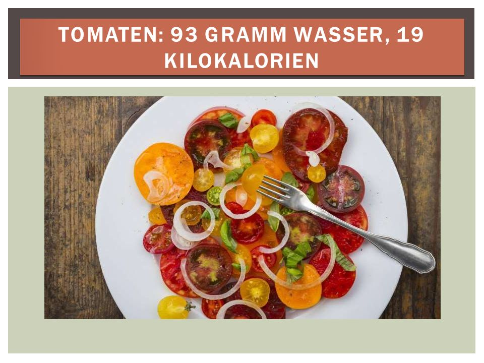 GURKE: 97 GRAMM WASSER, 12 KILOKALORIEN