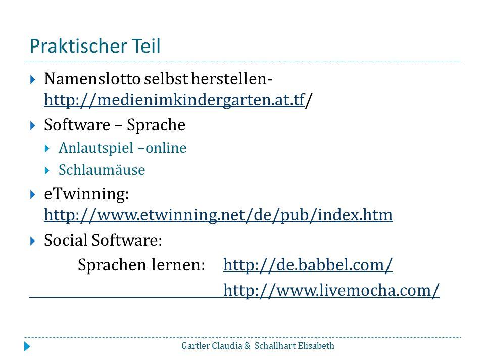 Internationalisierung  eTwinning - Comenius Gartler Claudia & Schallhart Elisabeth