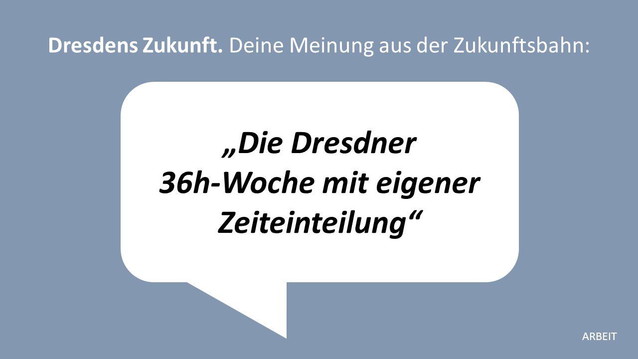 """""""Die Dresdner 36h-Woche mit eigener Zeiteinteilung Dresdens Zukunft."""