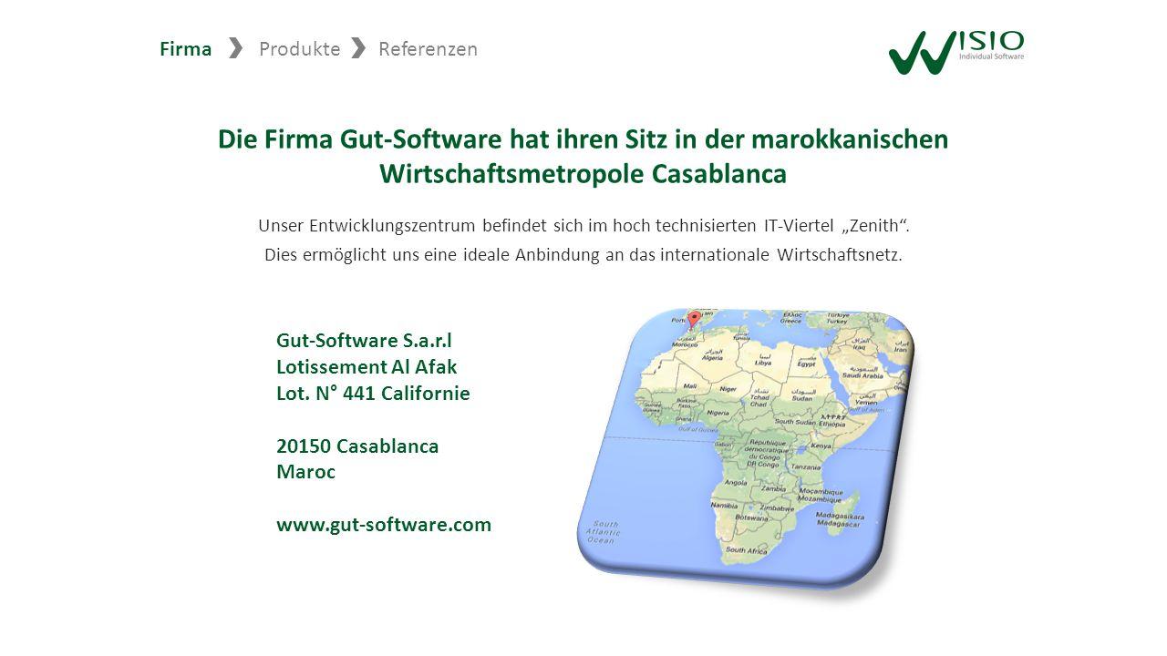 Die Firma Gut-Software hat ihren Sitz in der marokkanischen Wirtschaftsmetropole Casablanca Unser Entwicklungszentrum befindet sich im hoch technisier