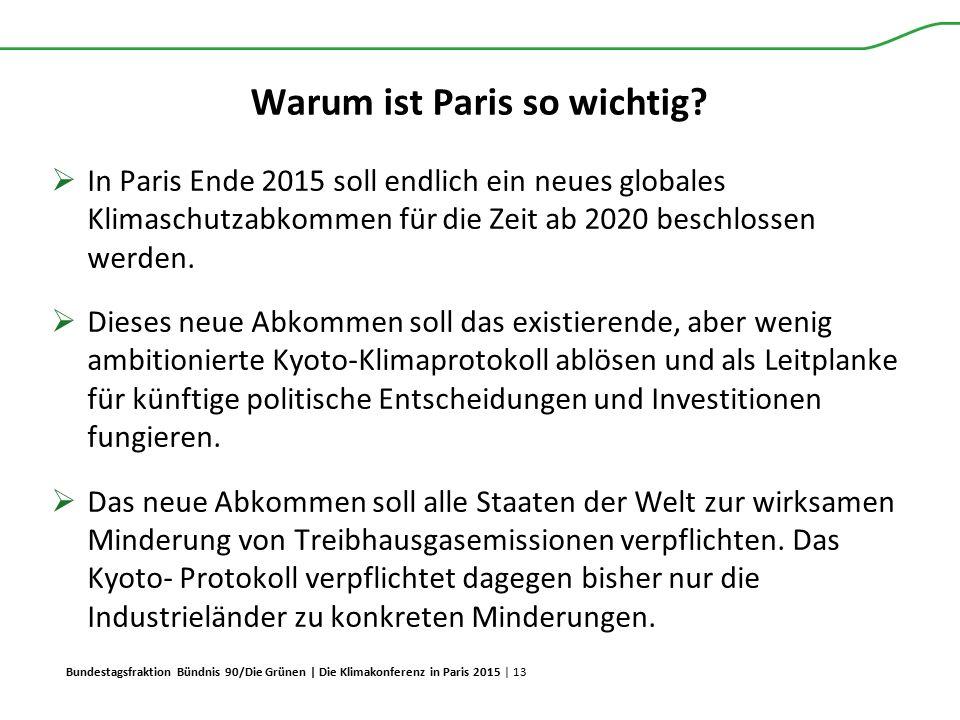 Bundestagsfraktion Bündnis 90/Die Grünen | Die Klimakonferenz in Paris 2015 | 13 Warum ist Paris so wichtig?  In Paris Ende 2015 soll endlich ein neu