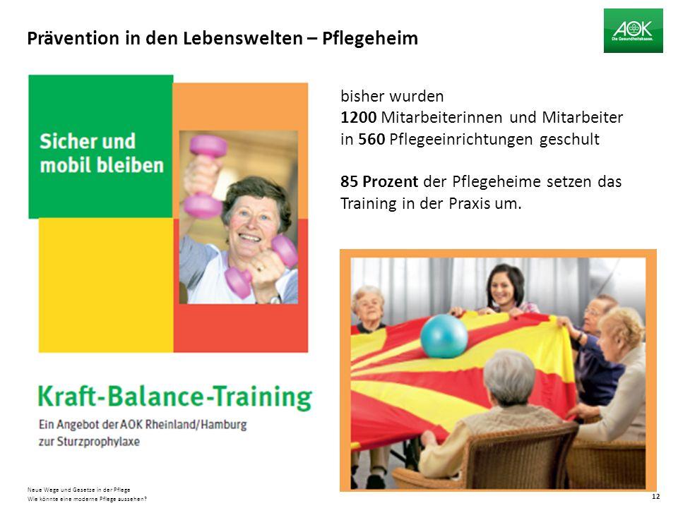 Prävention in den Lebenswelten – Pflegeheim Wie könnte eine moderne Pflege aussehen.