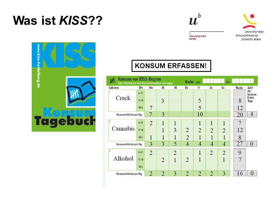 Was ist KISS?? KONSUM ERFASSEN!