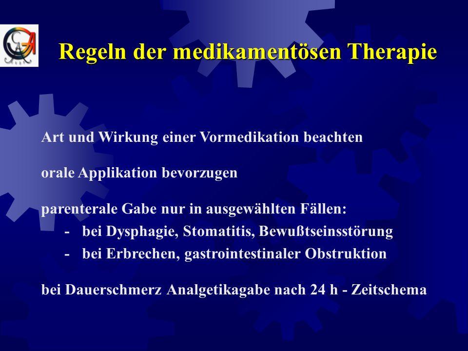 Schmerzursachen  physische Ursachen (z.B. Entzündung, Infiltration)  psychosoziale Gründe  existentielle, spirituelle Faktoren  tumor-, therapiein