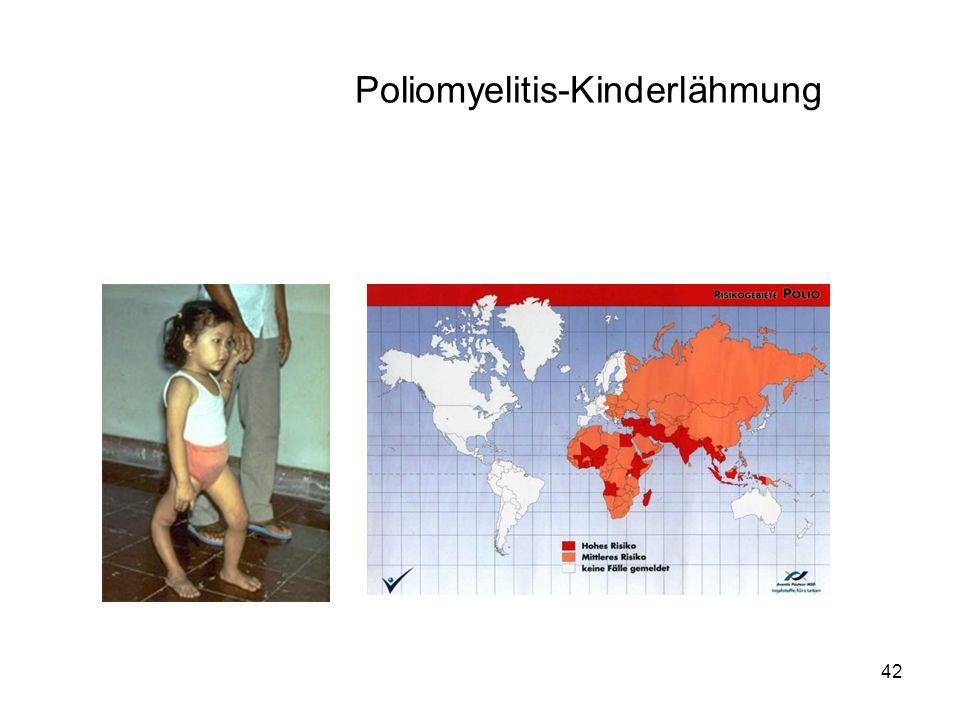 42 Poliomyelitis-Kinderlähmung
