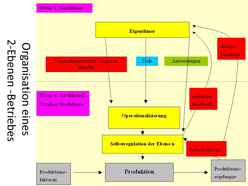Organisation eines 2-Ebenen -Betriebes 24
