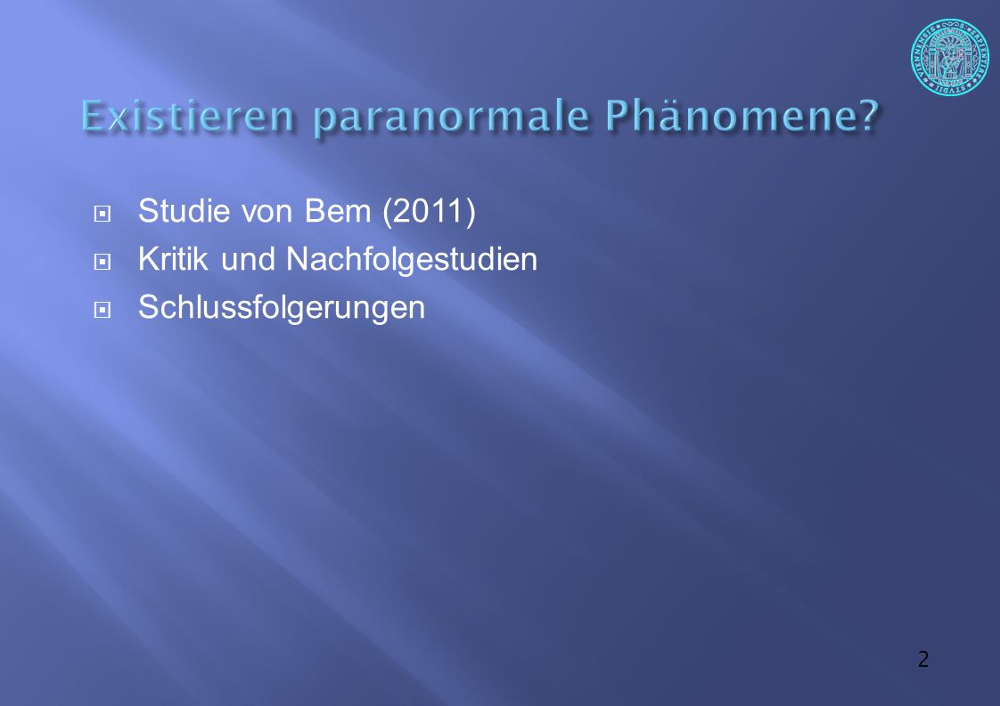 """43  Und wenn andererseits bei empirisch gefundenen Phänomenen eine naturwissenschaftlich akzeptable Erklärung der Phänomene vorliegt, können diese nicht mehr als """"paranormal bezeichnet werden."""