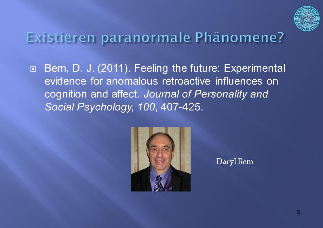 34  Starke Hinweise auf einen Publikationsbias Francis (2012): die Teststärke (Power) ist zu gering, um 9/10 Experimente signifikant werden zu lassen Die Ergebnisse sind zu gut, um wahr zu sein!