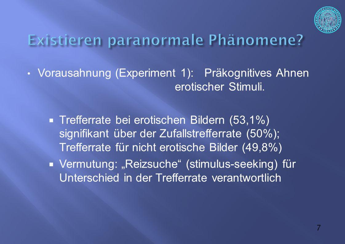 8  Priming-Experimente (Experiment 3 & 4)  Priming: Voraktivierung von Inhalten im Gedächtnis  grün -> .