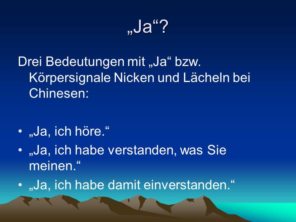 """""""Ja . Drei Bedeutungen mit """"Ja bzw."""