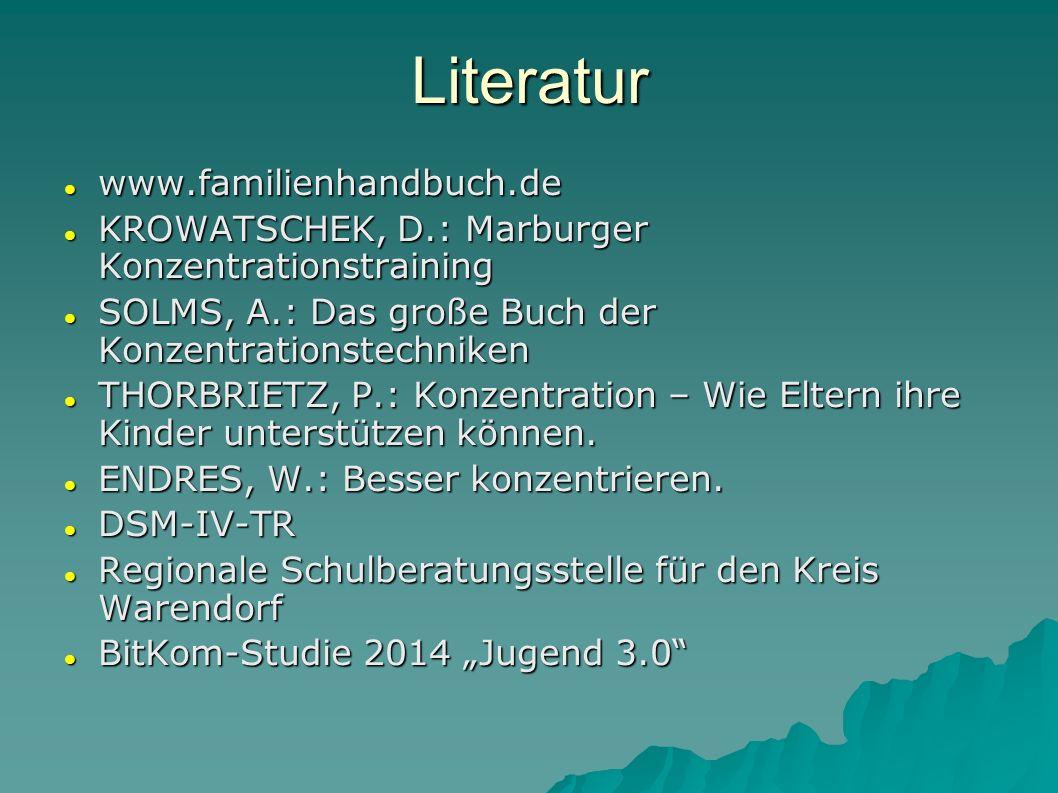 www.familienhandbuch.de www.familienhandbuch.de KROWATSCHEK, D.: Marburger Konzentrationstraining KROWATSCHEK, D.: Marburger Konzentrationstraining SO