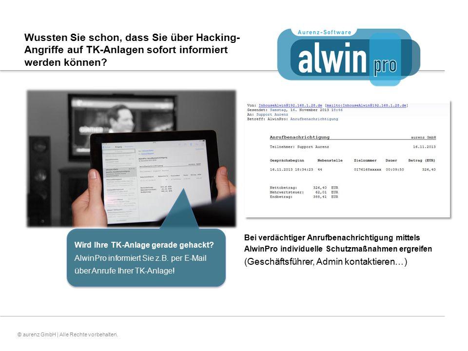 5© aurenz GmbH | Alle Rechte vorbehalten. Wussten Sie schon, dass Sie über Hacking- Angriffe auf TK-Anlagen sofort informiert werden können? Wird Ihre