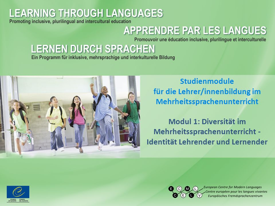 Studienmodule für die Lehrer/innenbildung im Mehrheitssprachenunterricht Modul 1: Diversität im Mehrheitssprachenunterricht - Identität Lehrender und Lernender