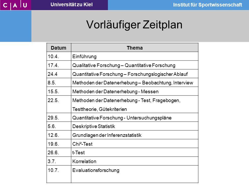 Universität zu Kiel Institut für Sportwissenschaft Alltagswissen – wissenschaftliches Wissen
