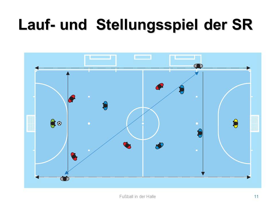 Lauf- und Stellungsspiel der SR Fußball in der Halle11
