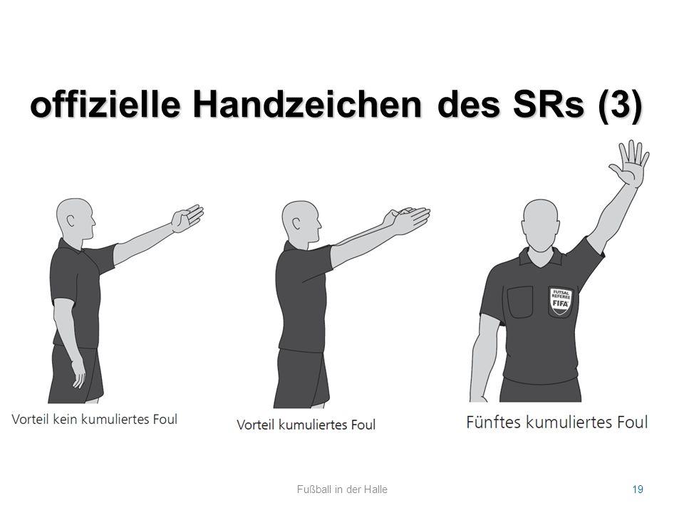 offizielle Handzeichen des SRs (3) Fußball in der Halle19