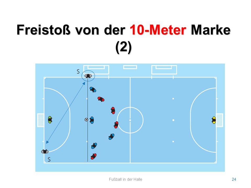 Freistoß von der 10-Meter Marke (2) Fußball in der Halle24
