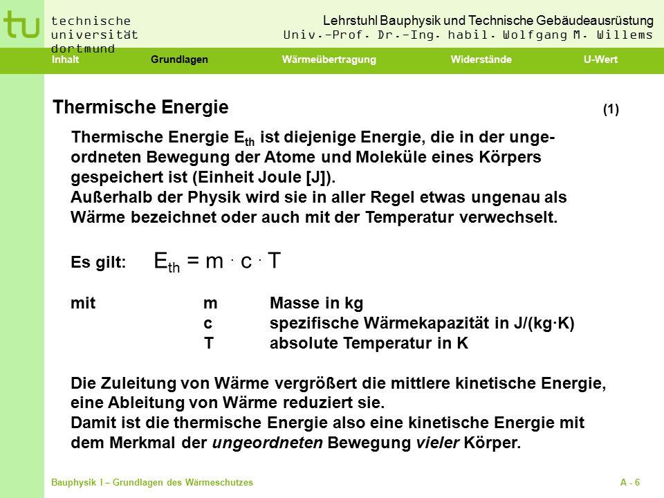 Lehrstuhl Bauphysik und Technische Gebäudeausrüstung Univ.-Prof.