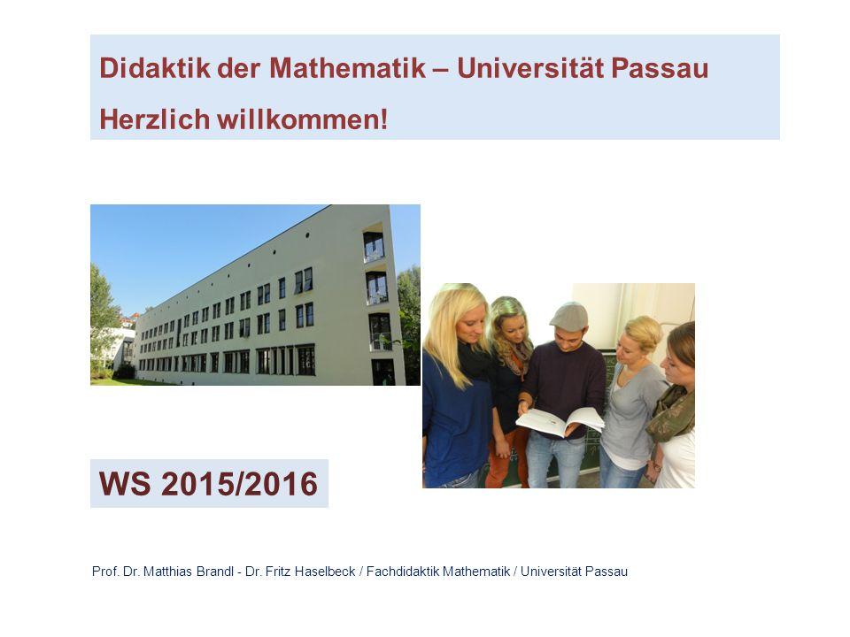 Didaktik der Mathematik – Universität Passau Herzlich willkommen.