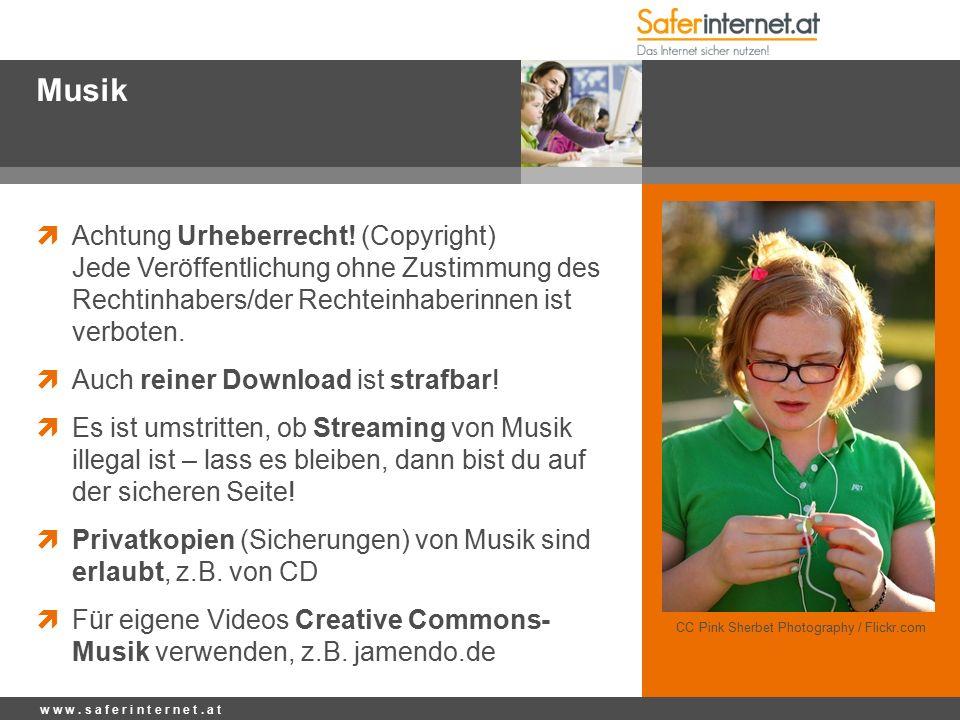 Musik  Achtung Urheberrecht.