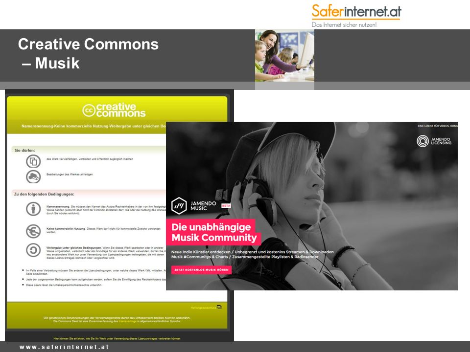 Creative Commons – Musik w w w. s a f e r i n t e r n e t. a t