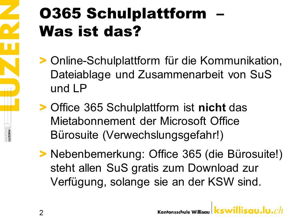 O365 Schulplattform – Was ist das.