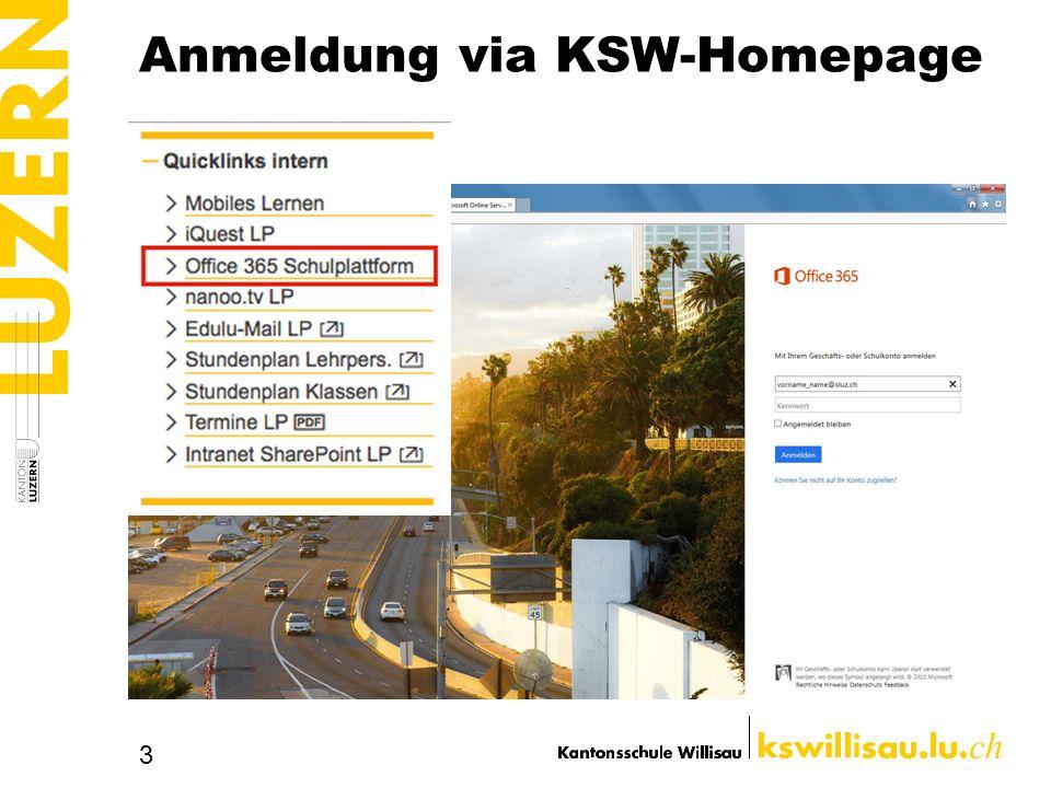 Anmeldung via KSW-Homepage 3