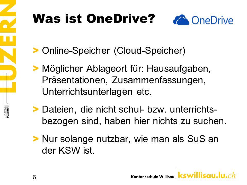Was kann man mit OneDrive machen.