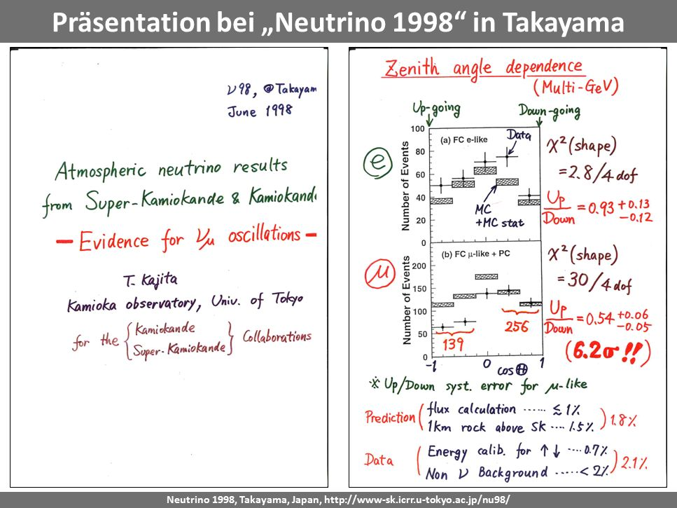 "Georg Raffelt, MPI Physik, München Physik Modern, München, 15. Okt. 2015 Präsentation bei ""Neutrino 1998"" in Takayama Neutrino 1998, Takayama, Japan,"