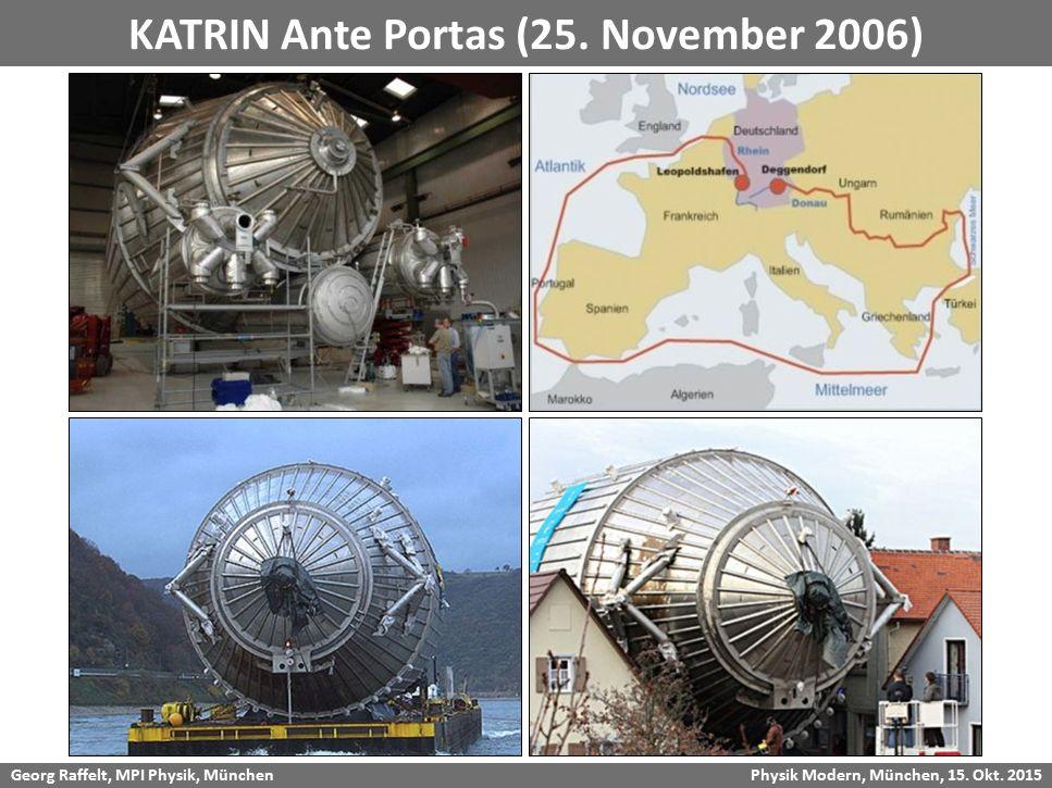 Georg Raffelt, MPI Physik, München Physik Modern, München, 15. Okt. 2015 KATRIN Ante Portas (25. November 2006)