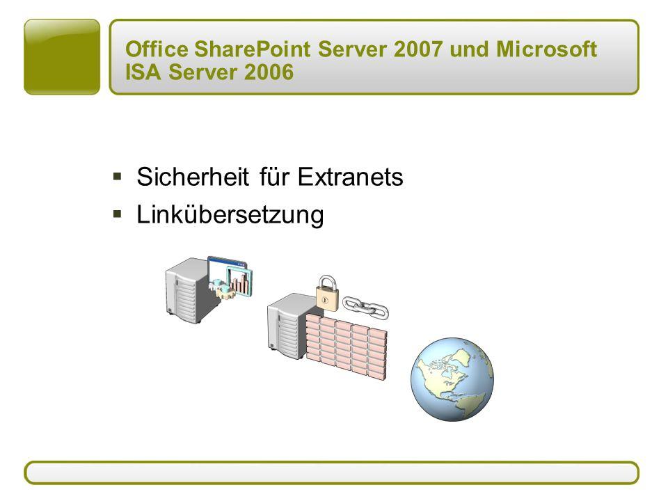 Office SharePoint Server 2007 und Microsoft ISA Server 2006  Sicherheit für Extranets  Linkübersetzung