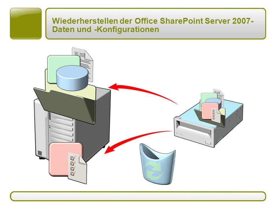 Wiederherstellen der Office SharePoint Server 2007- Daten und -Konfigurationen