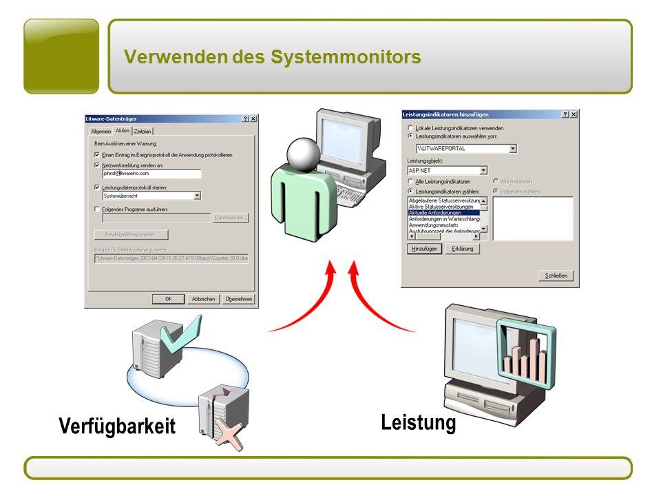 Verwenden des Systemmonitors Leistung Verfügbarkeit
