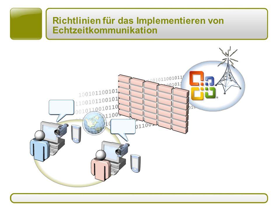 Richtlinien für das Implementieren von Echtzeitkommunikation