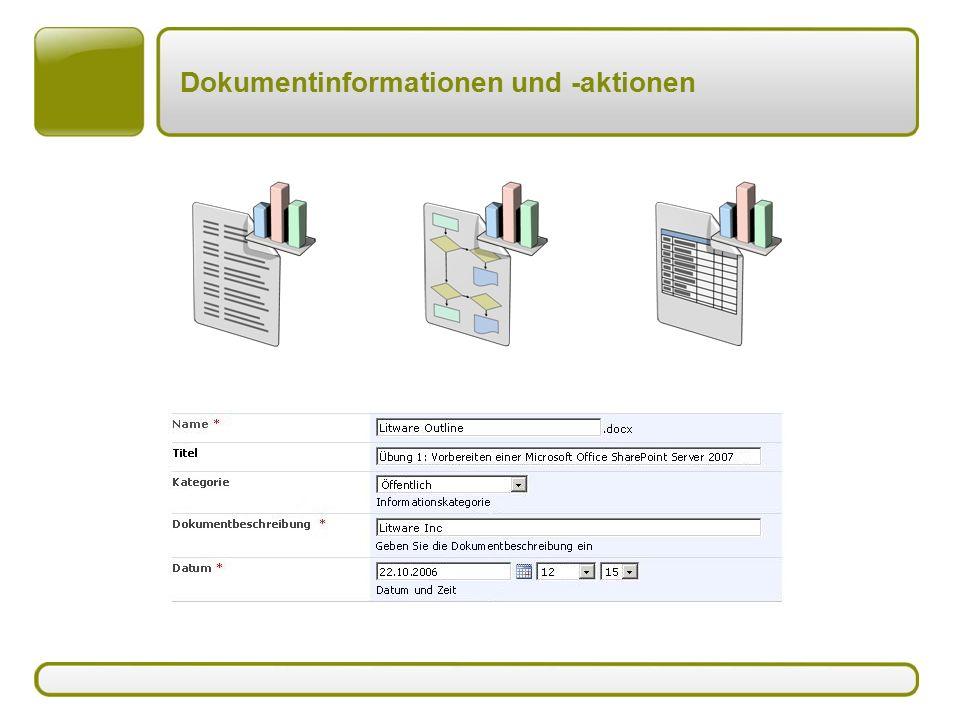 Dokumentinformationen und -aktionen
