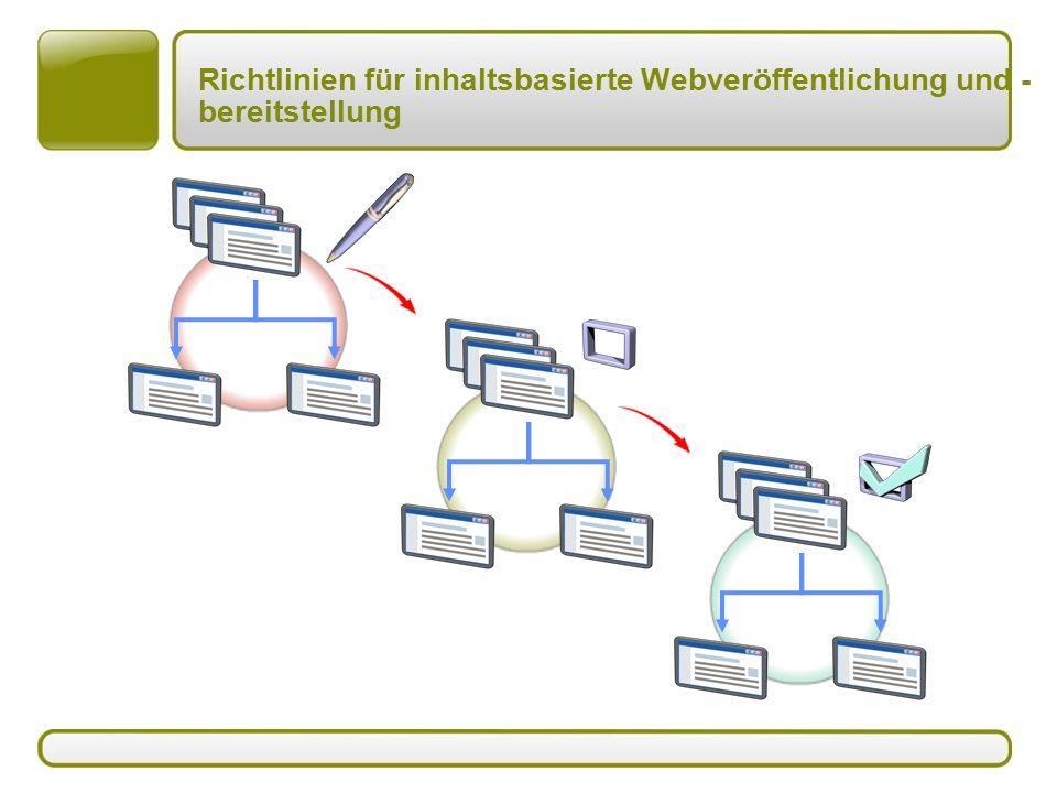 Richtlinien für inhaltsbasierte Webveröffentlichung und - bereitstellung