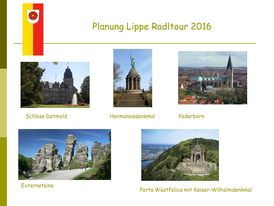 Bad Salzuflen Oerlinghausen, Teutoburger Wald Lemgo mit Hexenbürgermeisterhaus Planung Lippe Radltour 2016 Ziegeleimuseum Lage