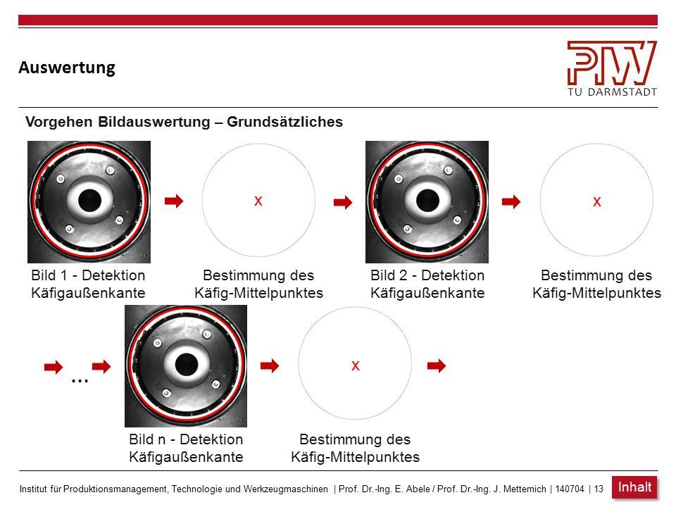 Institut für Produktionsmanagement, Technologie und Werkzeugmaschinen   Prof. Dr.-Ing. E. Abele / Prof. Dr.-Ing. J. Metternich   140704   12 Auswertun