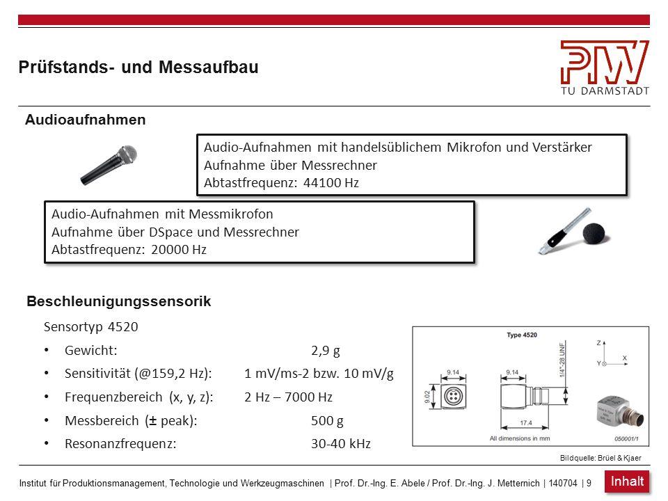Institut für Produktionsmanagement, Technologie und Werkzeugmaschinen   Prof. Dr.-Ing. E. Abele / Prof. Dr.-Ing. J. Metternich   140704   8 Prüfstands