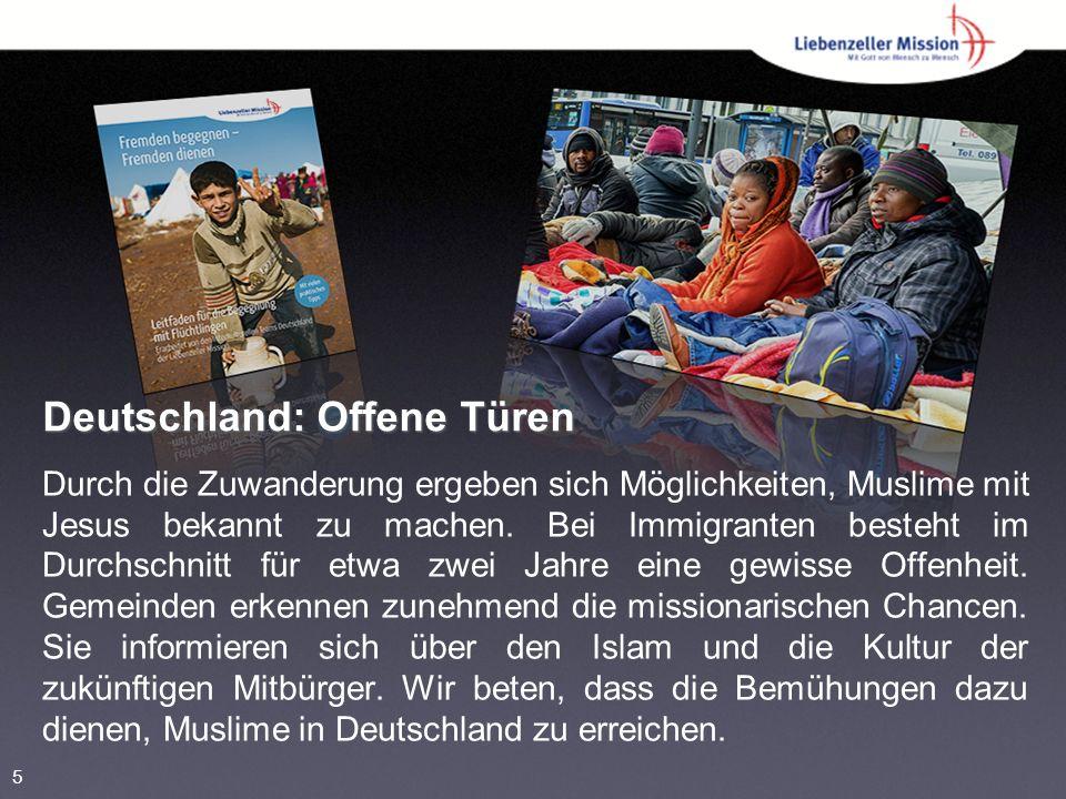 Deutschland: Offene Türen Durch die Zuwanderung ergeben sich Möglichkeiten, Muslime mit Jesus bekannt zu machen.