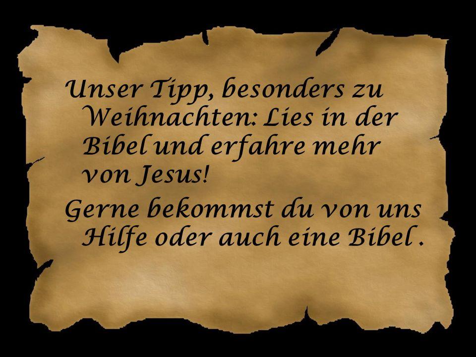Wenigstens ehrlich … ! Jesus ist aber auch für DICH gekommen! Was dir das bringt? Frag uns einfach …