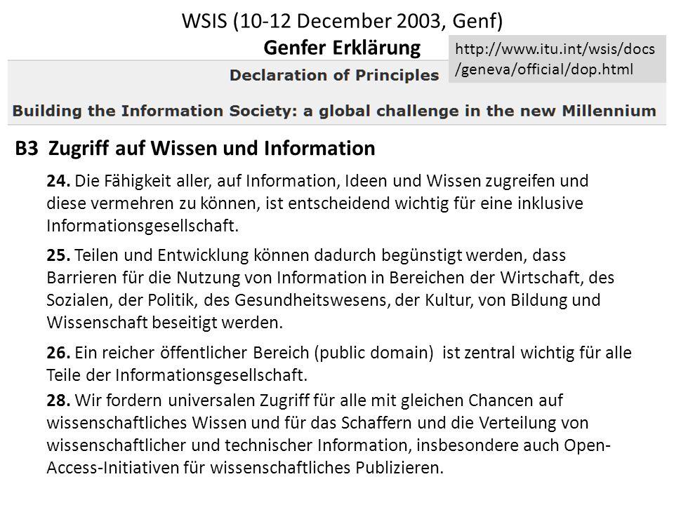 Überarbeitung der Ergebnisse des World Summit on the Information Society Process (WSIS) Wir werden den Versprechungen der Datenrevolution nicht gerecht werden können, wenn wir nicht die gesetzlichen und politischen Voraussetzungen schaffen, um Bibliotheken und Archive zu erlauben, digitale Information grenzüberschreitend zu nutzen.