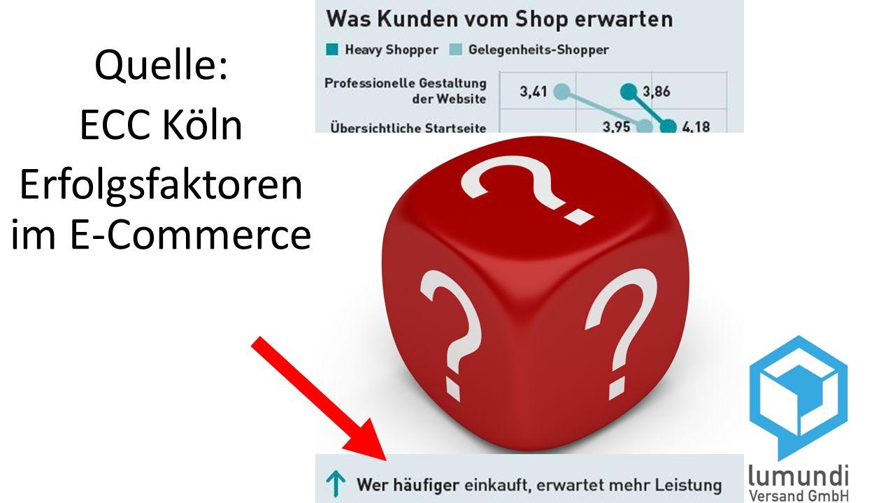 Quelle: ECC Köln Erfolgsfaktoren im E-Commerce
