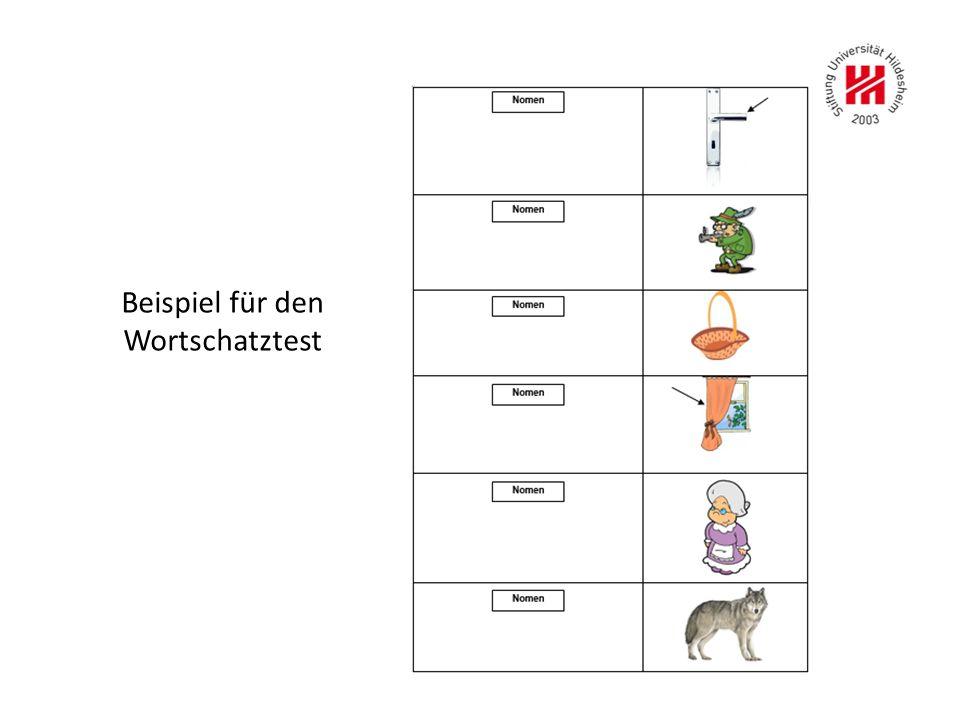 Beispiel für den Wortschatztest