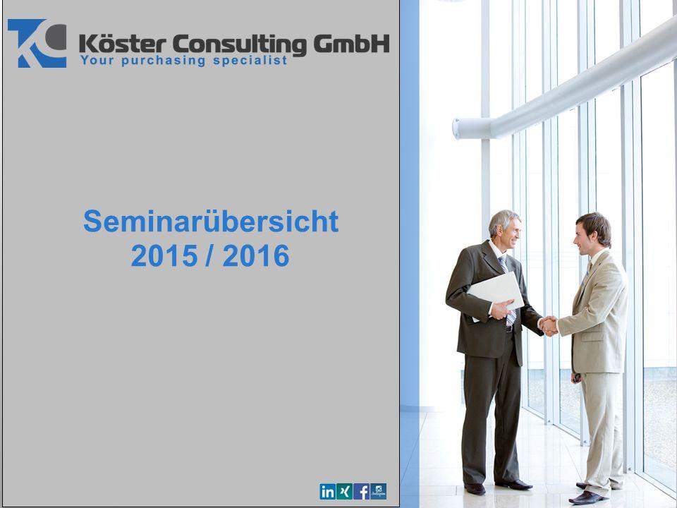YOUR LOGO Seminarübersicht 2015 / 2016