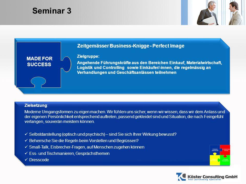 YOUR LOGO Seminar 4 ® ® Zielsetzung: Der gelungene Auftritt vor Chefs, Mitarbeitern, Kunden und auf Konferenzen.