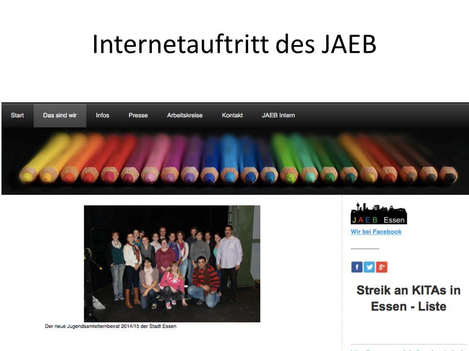 Internetauftritt des JAEB